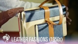 1950s Leather Fashions - Colourful Purses, Handbags and Luggage