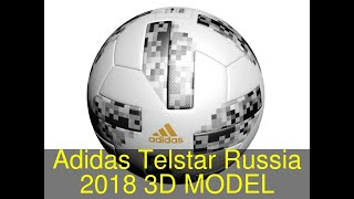 3D Model of Adidas Telstar Russia 2018 Review