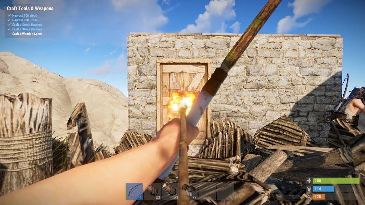 Rust Solo/Duo - Wipe Day Fire Arrow Raid