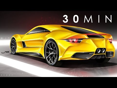 2019 Lotus Esprit Concept_Photoshop Rendering Tutorial (30 MIN)