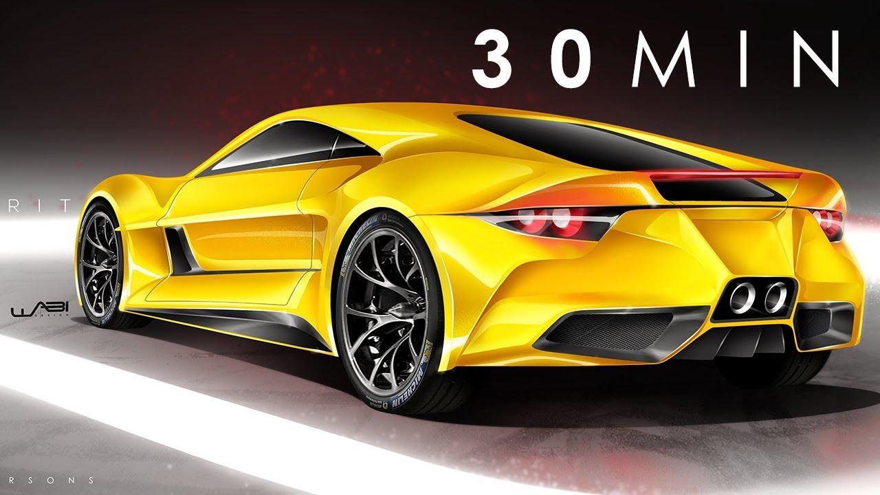 2019 Lotus Esprit Conceptphotoshop Rendering Tutorial (30