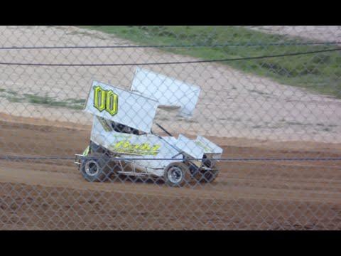 Florida Mini Sprint Heat Race - Putnam County Speedway 5-2-2015