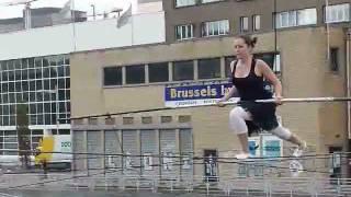 Funambule à la journée sans voiture de Bruxelles le 18/9/2011