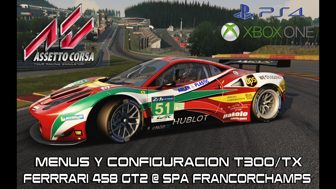 assetto corsa ps4 xbox one menus thrustmaster t300 tx. Black Bedroom Furniture Sets. Home Design Ideas