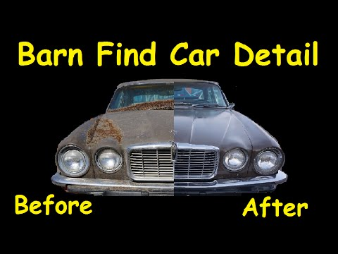 Old Barn Find Car Detailing How To Polish Buff Clean DIRTY Cars Video