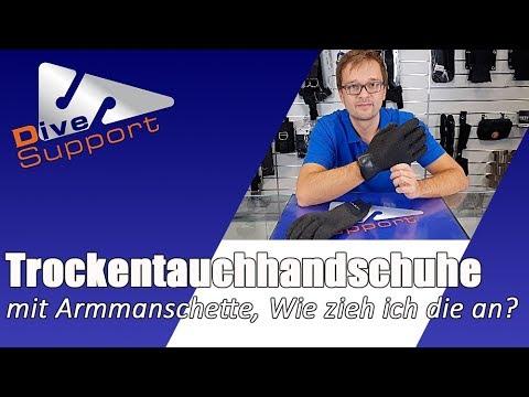Trockentauchhandschuhe mit Armmanschette – Wie werden diese angezogen? | DiveSupport