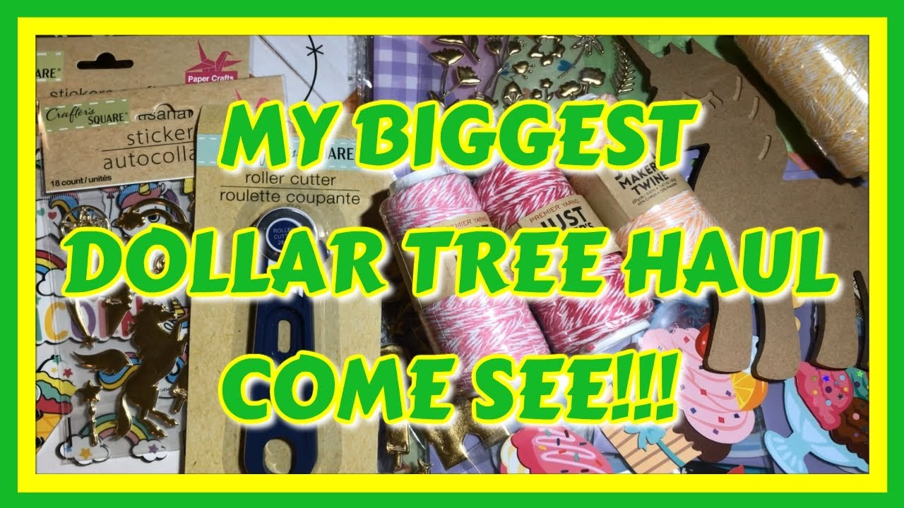 ⭐🛒 MY BIGGEST DOLLAR TREE HAUL | COME SEE!!!