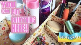 Super Creative!! beauty make up box from cardboard