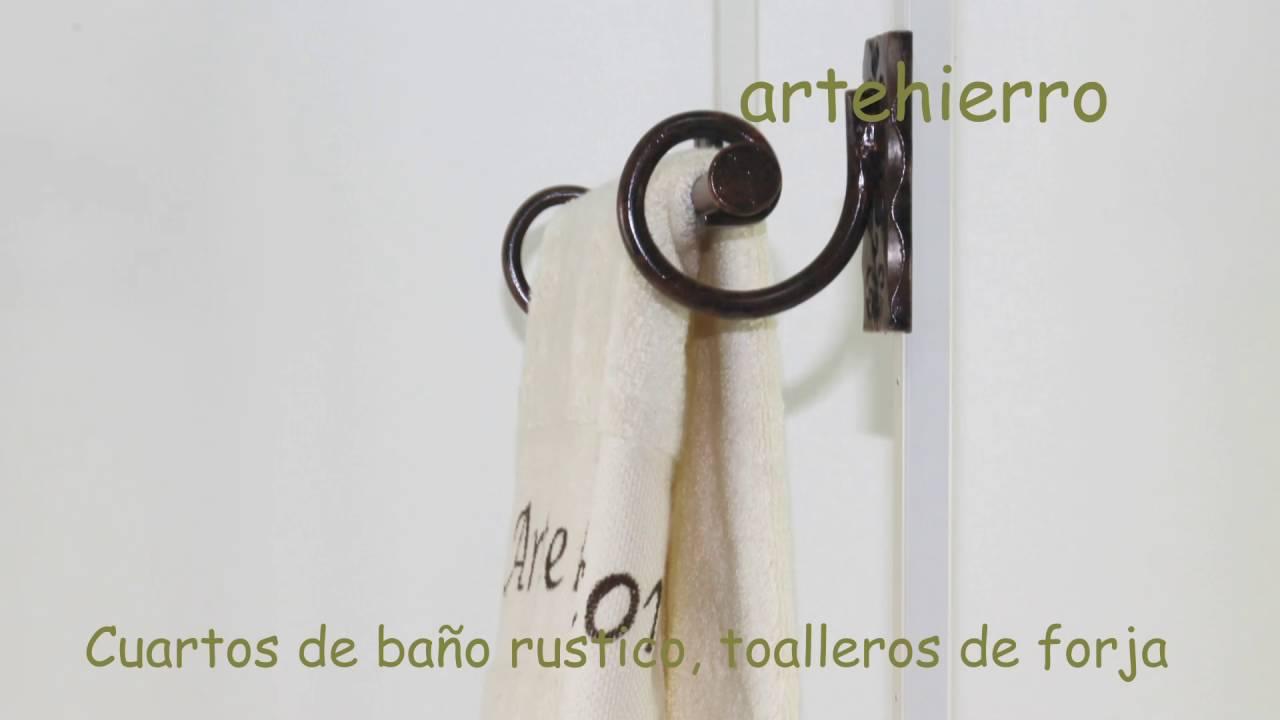 Cuartos de ba o rustico toalleros de forja complementos - Adornos de pared de forja ...