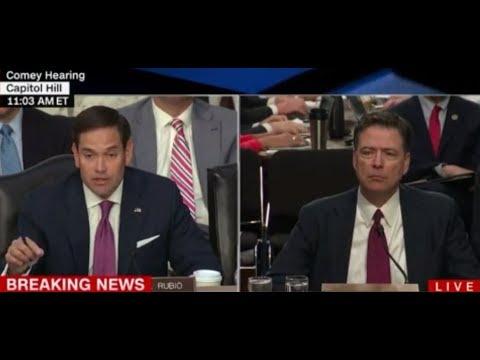 Marco Rubio Crushes Democrat Media 'Collusion' Narrative at Comey Hearing
