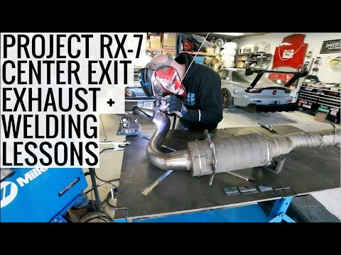 Project RX-7 Center Exit Exhaust + Welding Lessons from Vibr