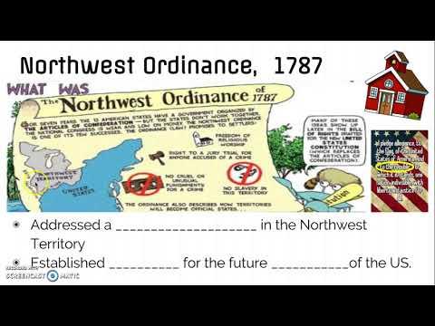 AH_U1, V2: Northwest Ordinance