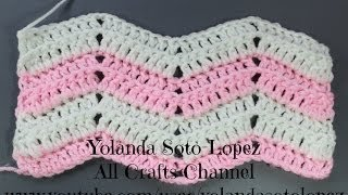 How to Crochet Ripple Stitch (English)
