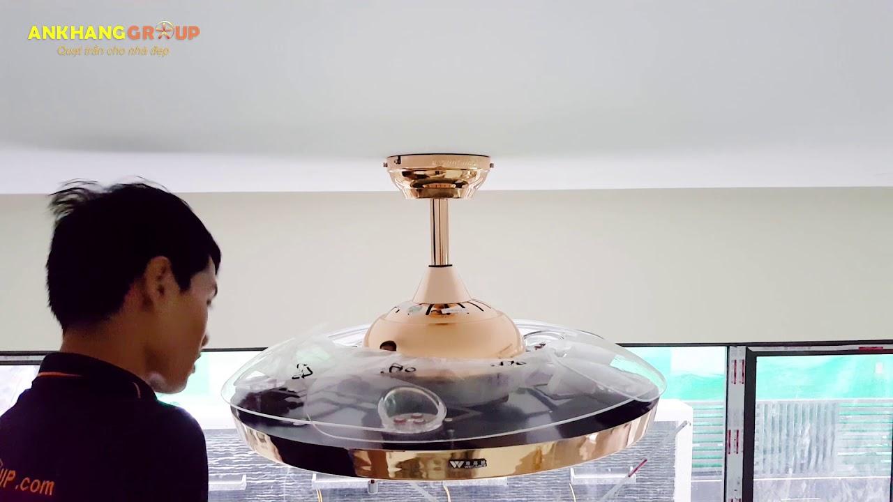 Lắp đặt quạt trần đèn trang trí An Khang 9081 – An Khang group