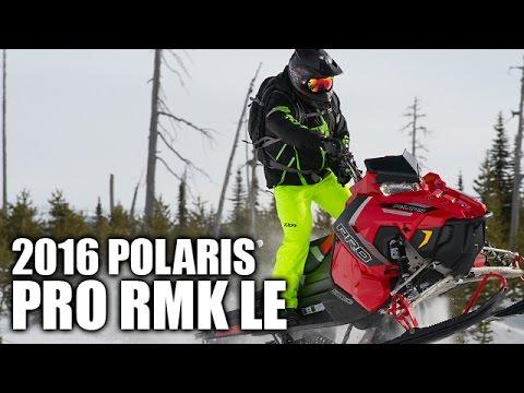 Test Ride 2016 Polaris 800 Pro Rmk Le 163