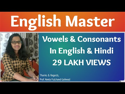 Learn Vowels Consonants In Hindi English Youtube