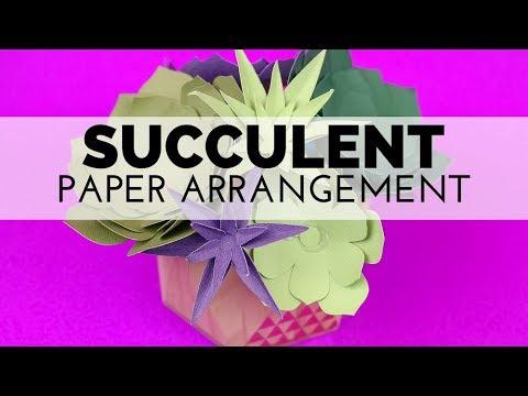 How to Make a Paper Succulent Arrangement