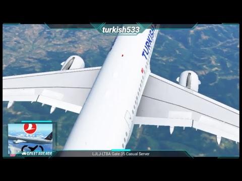 LJLJ-LTBA   Infinite Flight   Ljubljana to Istanbul