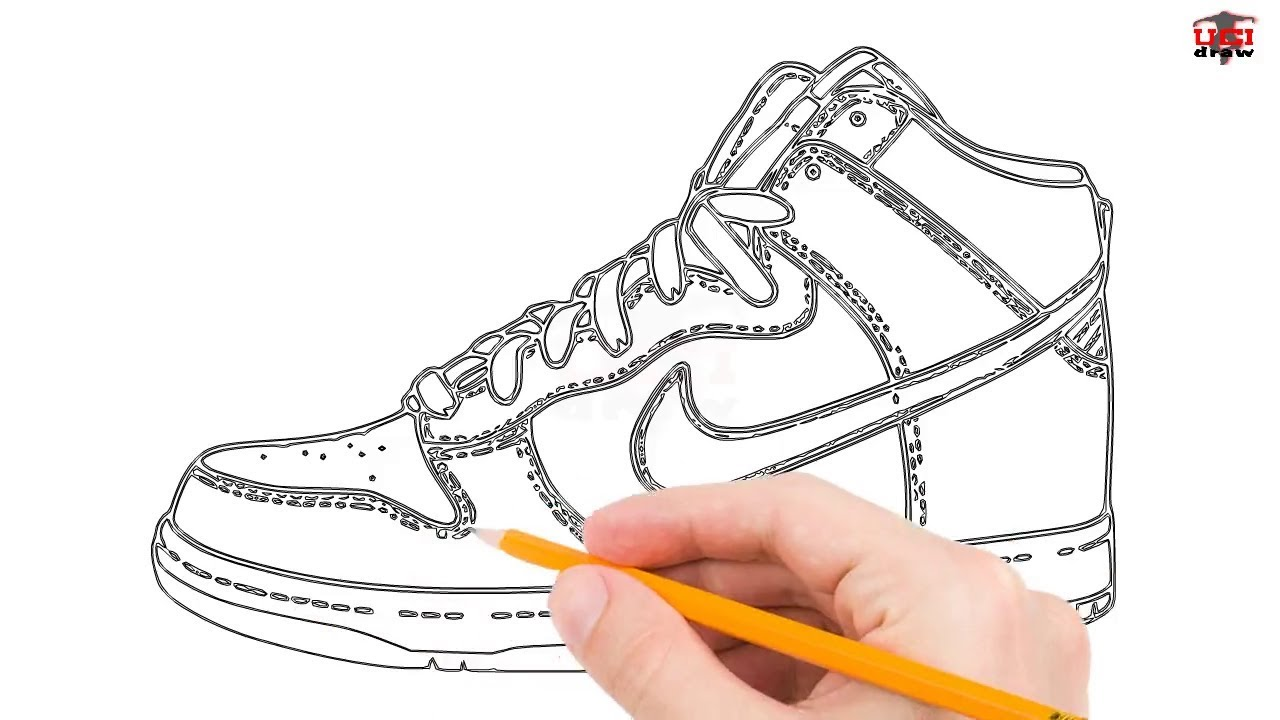 How to Draw Jordans Step by Step Easy for Beginners/Kids – Simple Jordan  Shoe Drawing Tutorial