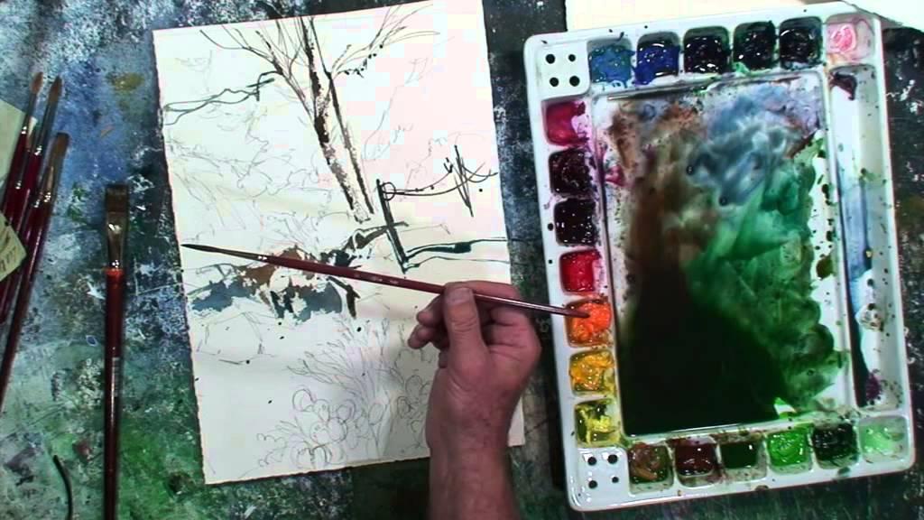Tom Lynch Artist Brush Demonstration Youtube