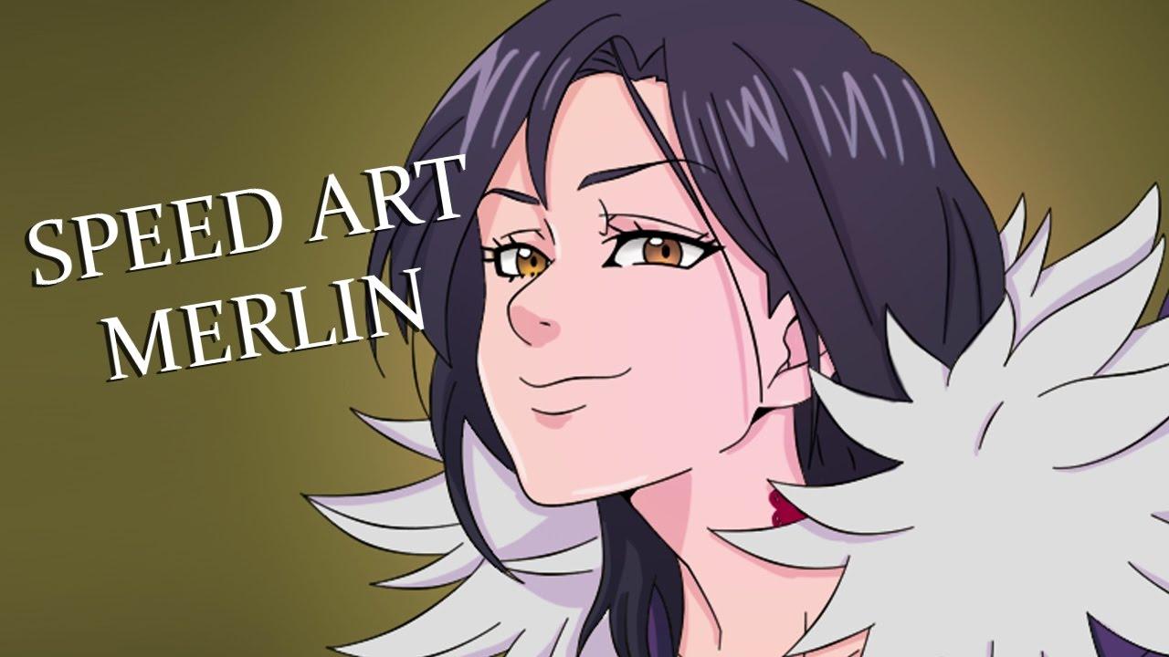 Colorindo Manga Merlin Nanatsu No Taizai 4 Youtube