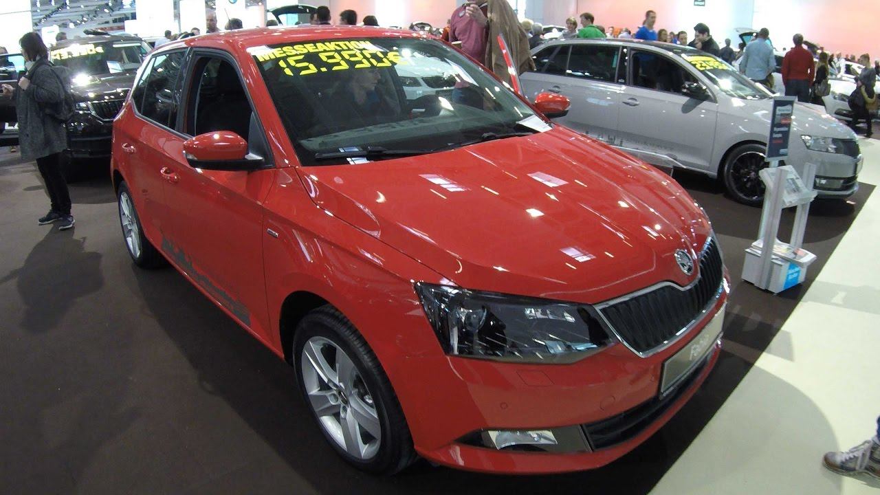 skoda fabia 3 drive corrida red colour fabia iii 2017 walkaround and interior youtube. Black Bedroom Furniture Sets. Home Design Ideas