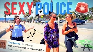 SEXY POLICE ON THE BEACH!!