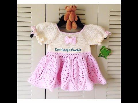Hướng dẫn móc áo cho bé : áo cổ vuông p2