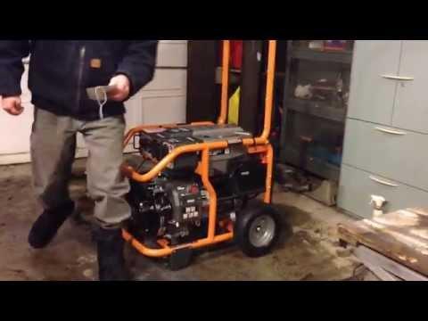 Ridgid RD6800 New Generator First Start Up YouTube
