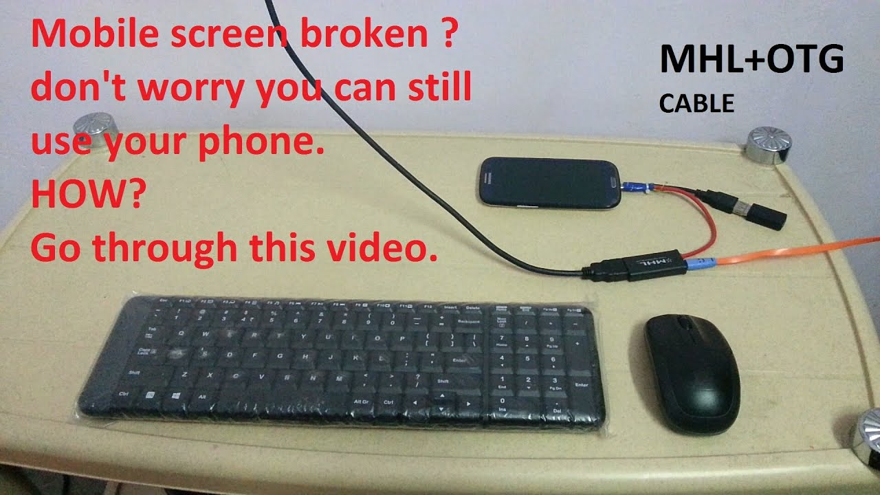 connecting  mobile phone with TV using MHL cable.