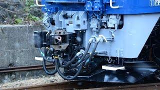 EF64 1032 AT構内線試運転(2014.12)