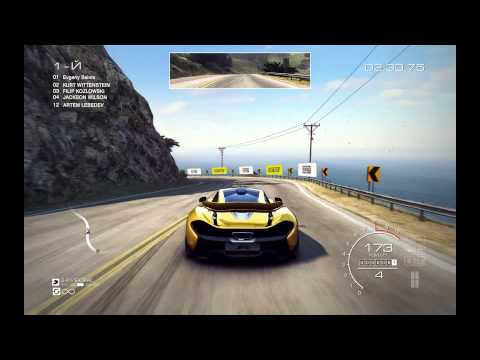 High-speed race along the big sur in California on McLaren P1. In the game GRID Autosport