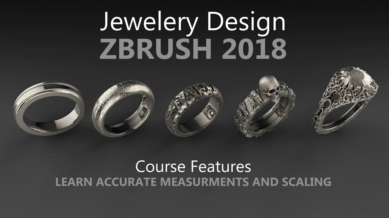 Jewelery Design in ZBrush 2018 - Complete Jewelery Course - mojomojo