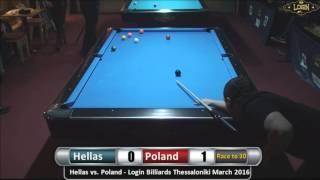 Login Billiards Thessaloniki 9-Ball Open Tournament March 2016 - Challenge Match - Scotch Doubles