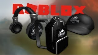 HOW TO GET THE JURASSIC WORLD CAP, HEADPHONES AND BACKPACK (Roblox CREATOR CHALLENGE EVENT 2018)