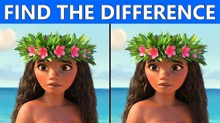 find the differences moana puzzles