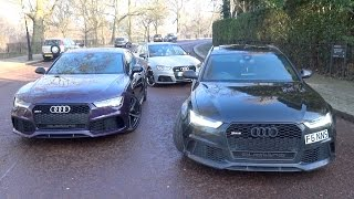 Audi RS6 Performance vs RS7 vs RS3 - Sounds and Driving in London