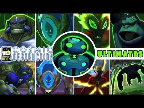 BEN 10 Ultimate Alien: Cosmic Destruction ALL ULTIMATE ALIENS