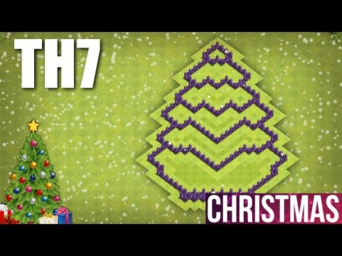 CLASH OF CLANS - TH7 CHRISTMAS TREE BASE 2016 🎄 TOWN HALL 7 CHRISTMAS SPECIAL BASE