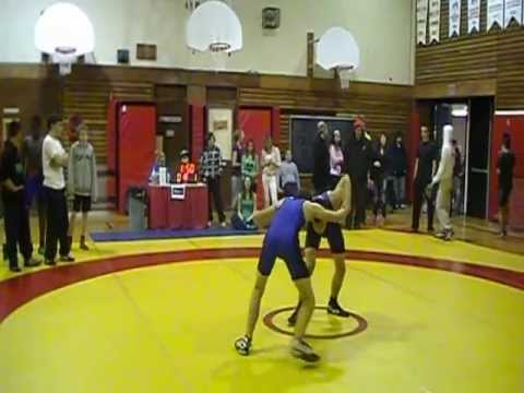 High School Wrestling pin in less than 1 minute