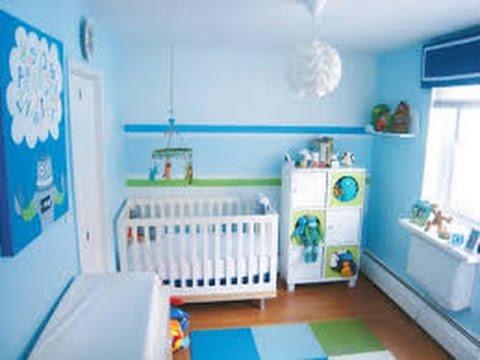 Quarto de bebê masculino azul