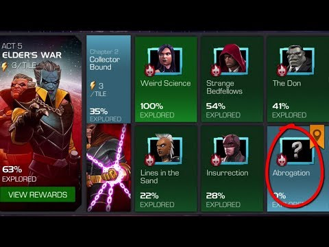 MARVEL CONTEST OF CHAMPIONS: STORY QUEST ELDER'S WAR Collector Bound: Abrogation (ACT 5.2.6)
