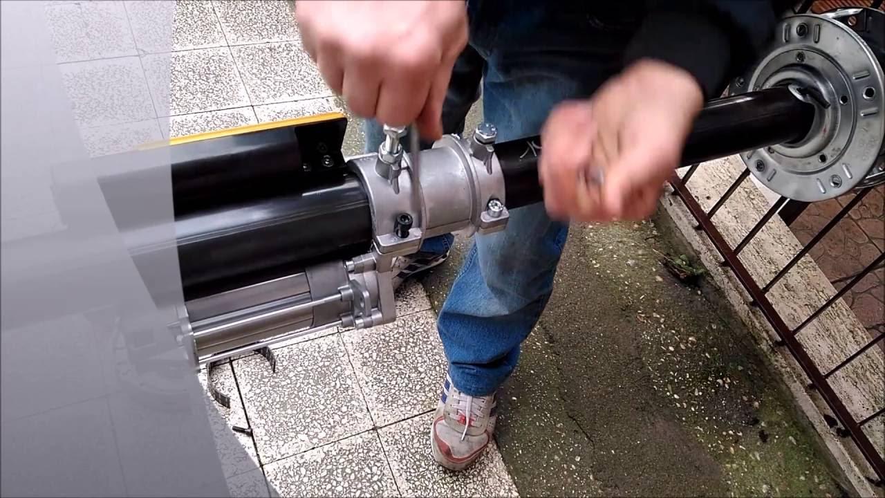 Schema Elettrico Motore Serranda : Tutorial montaggio motore acm su asse serranda youtube