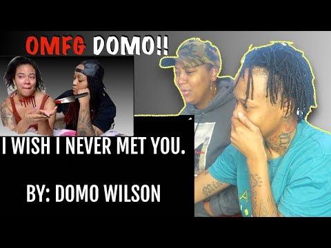 I WISH I NEVER MET YOU - BY DOMO WILSON(LYRIC VIDEO) LEELEE & GRAMZ REACTION VIDEO
