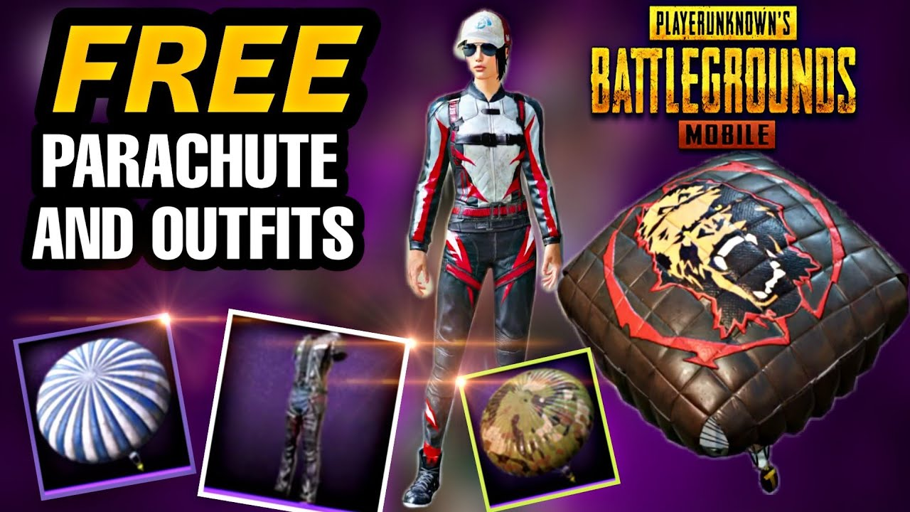 How to get Free Parachute in pubg mobile / How to get free outfits in pubg  mobile