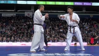 第5回カラテワールドカップ 男子重量級 準々決勝 2 鈴木国博 vs 島本雄...