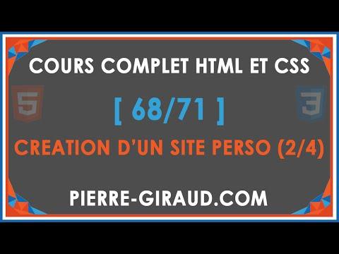 COURS COMPLET HTML ET CSS [68/71] - Création D'un Site Personnel (site Cv) 2/4