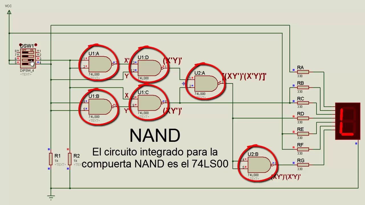 Circuito Nand : Compuerta nand teorema de morgan youtube