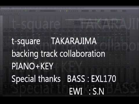 t square takarajima backing track piano+key