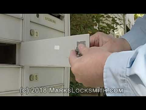 Mark's Locksmith: How to Replace / Install a Mailbox Lock Multi Mailboxes